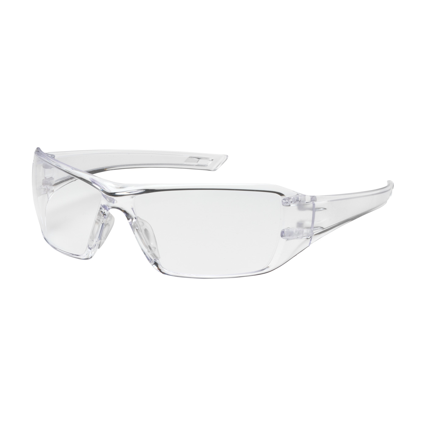 Captain Rimless Safety Glasses with Clear Temple, Clear ...