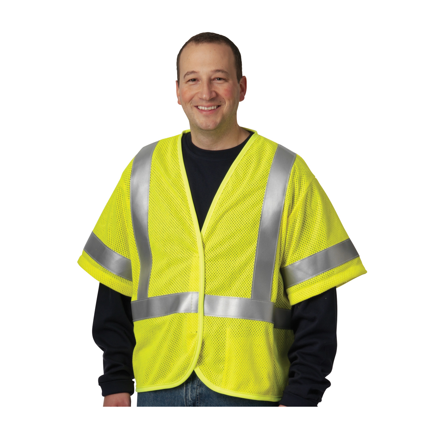 Ansi Type R Class 3 Fr Treated Reflective Mesh Vest Rit