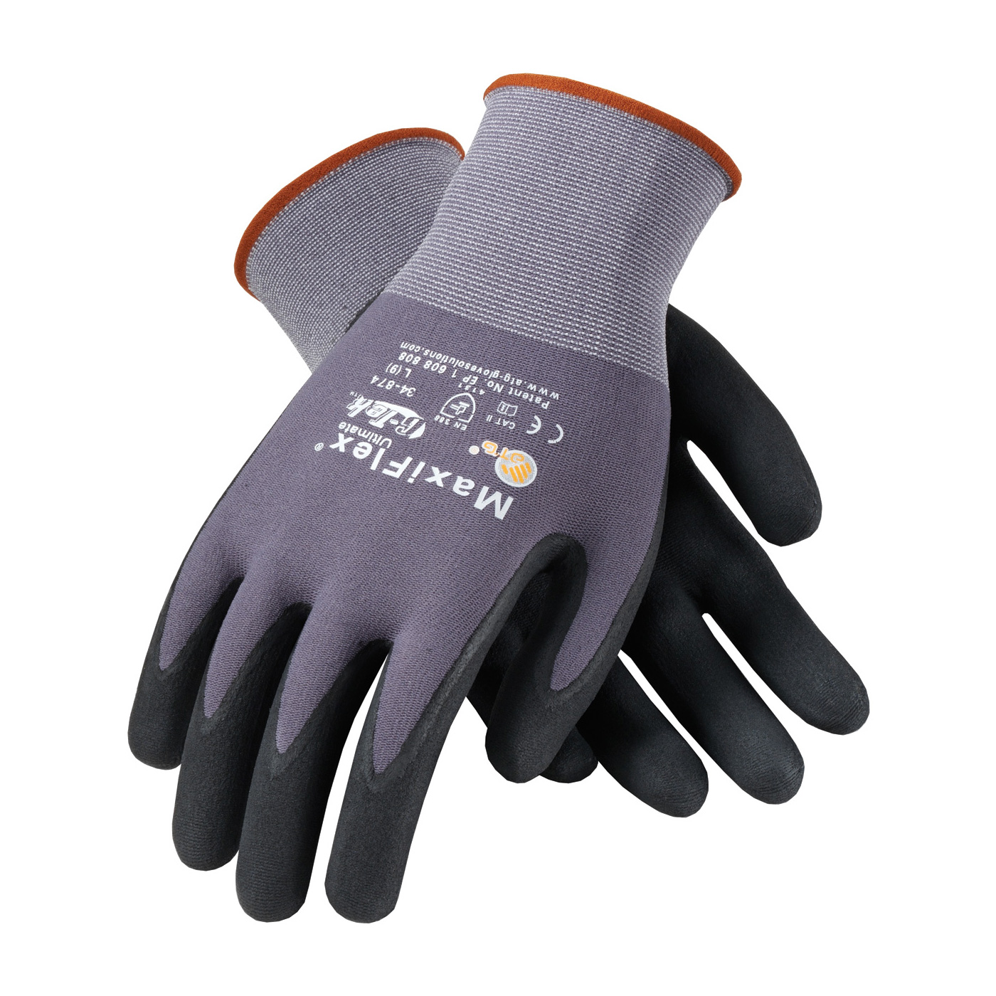 Seamless Knit Nylon Lycra Glove With Nitrile Coated
